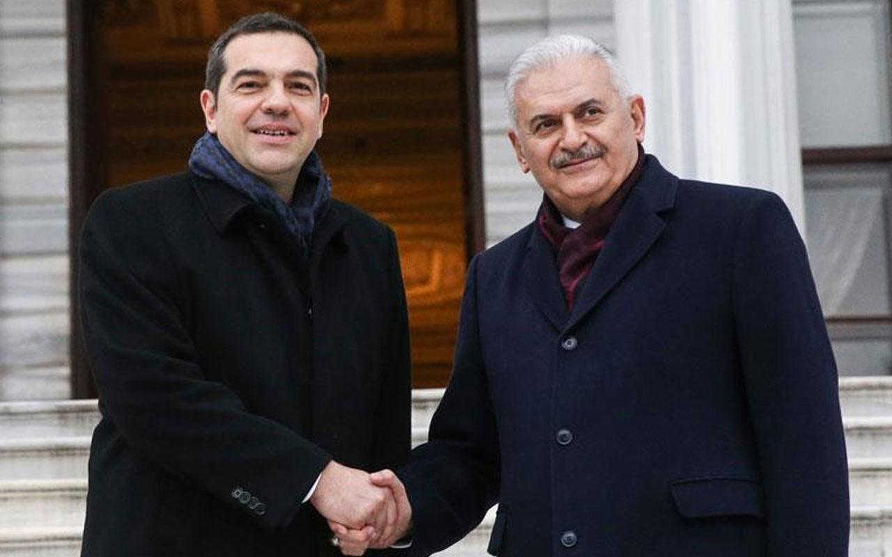 Yıldırım, Yunanistan Başbakanı Çipras'ı kabul etti