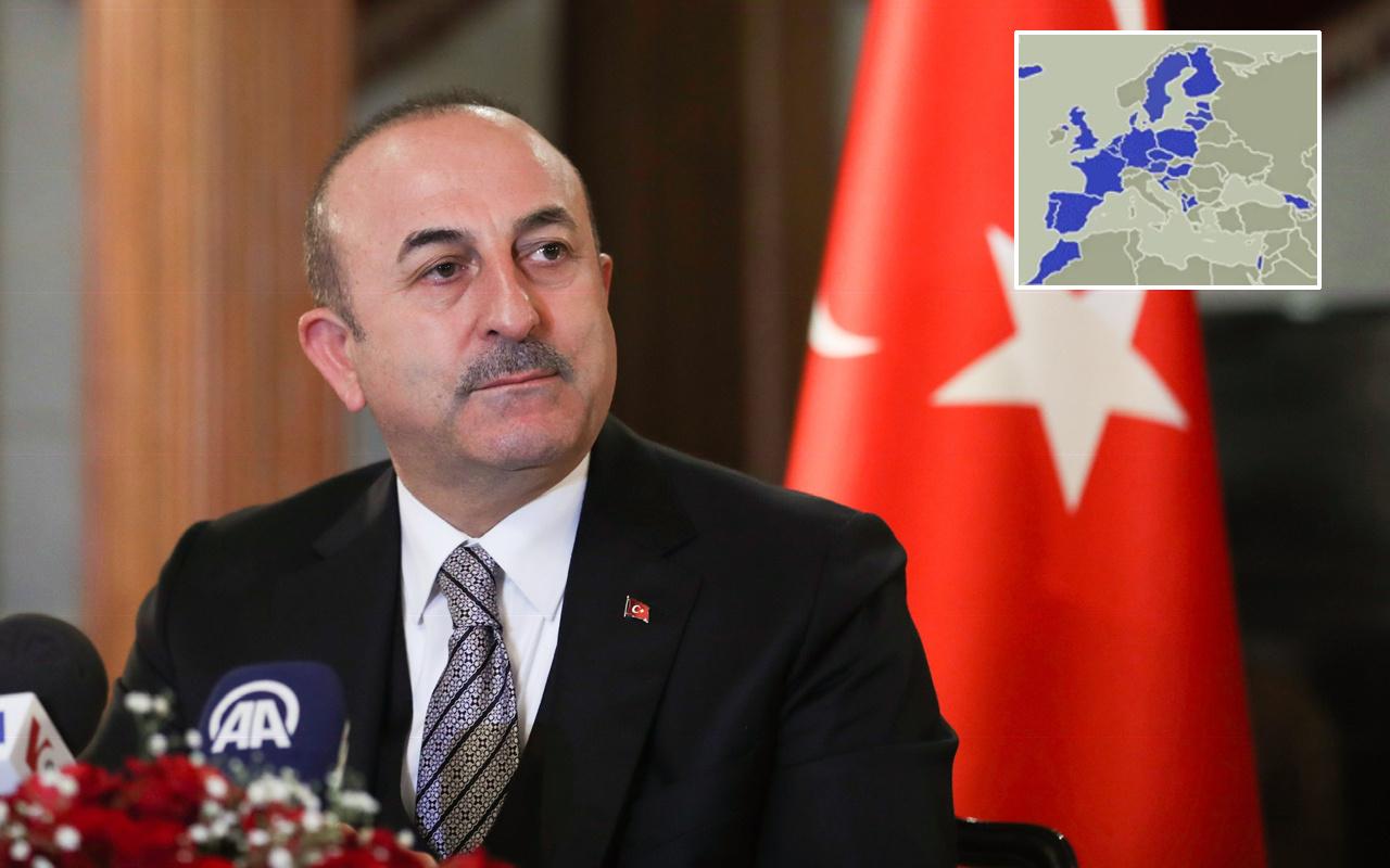 Mevlüt Çavuşoğlu skandal haritayı Pompeo'ya sordu