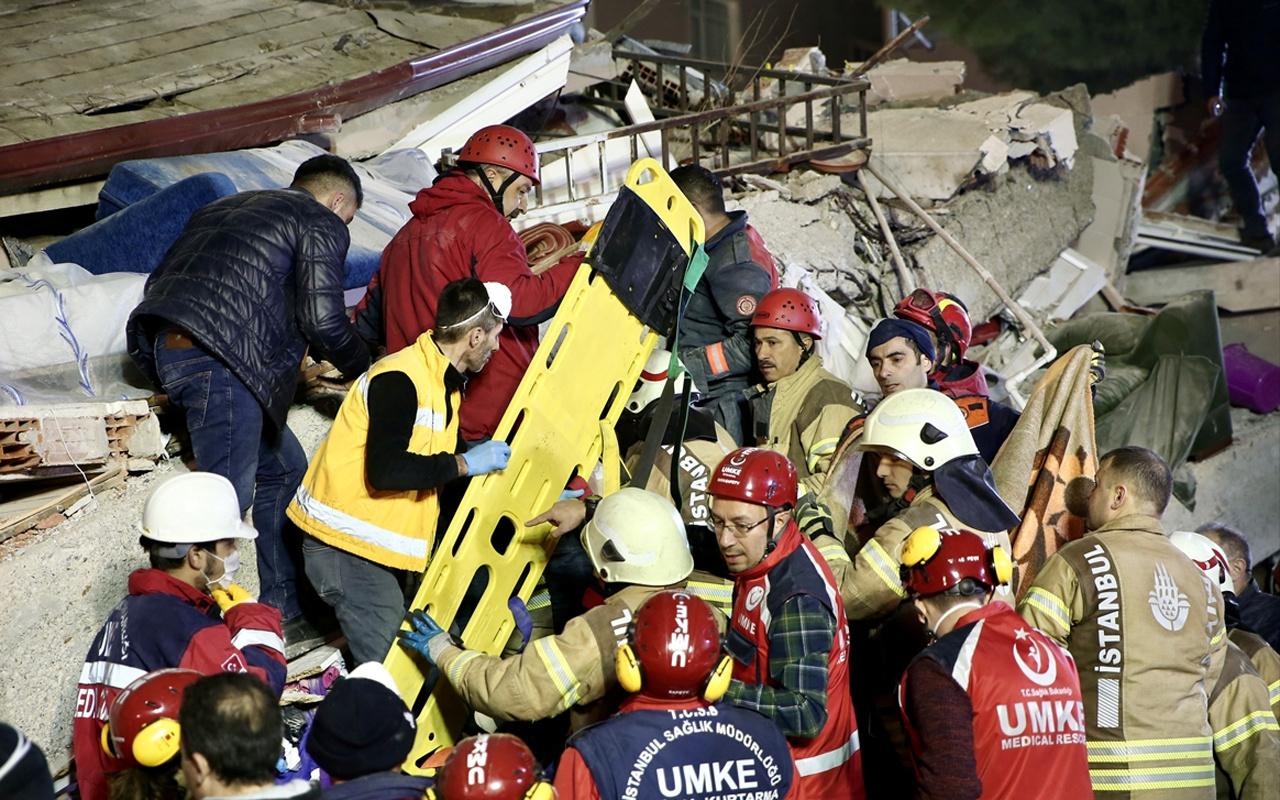Kartal'da çöken binanın enkazından kahreden haberler geliyor