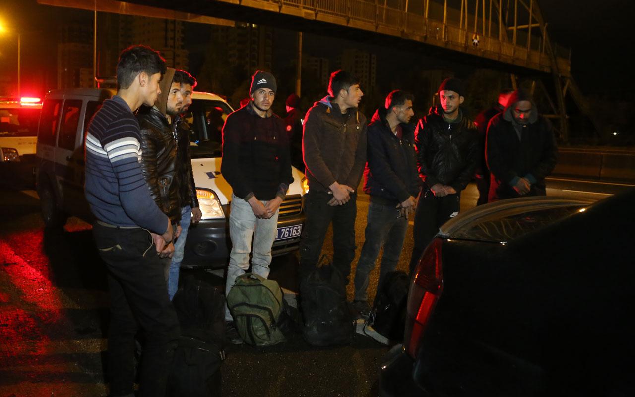 Adana'da Suriyeli 7 kaçak göçmen yakalandı