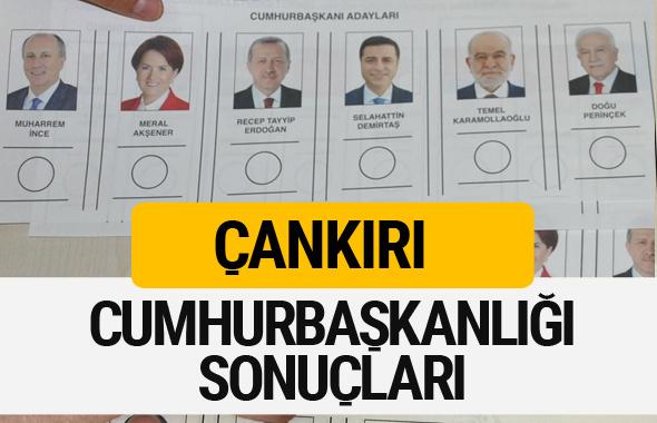 Çankırı Cumhurbaşkanlığı seçim sonucu 2018 Çankırı sonuçları