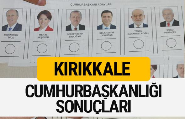 Kırıkkale Cumhurbaşkanlığı seçim sonucu 2018 Kırıkkale sonuçları