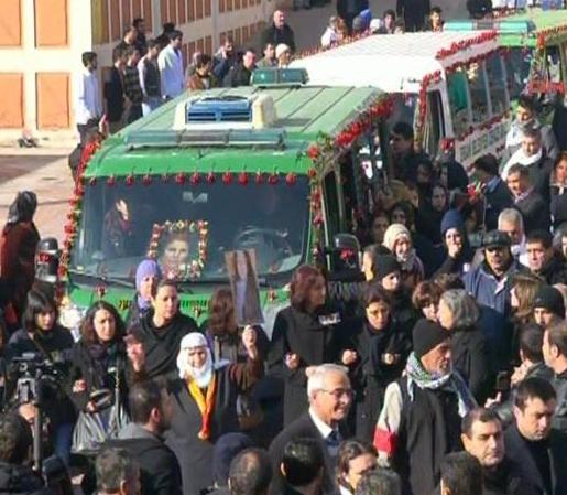 Sakine Cansız, Leyla Söylemez, Fidan Doğan, PKK, cenaze