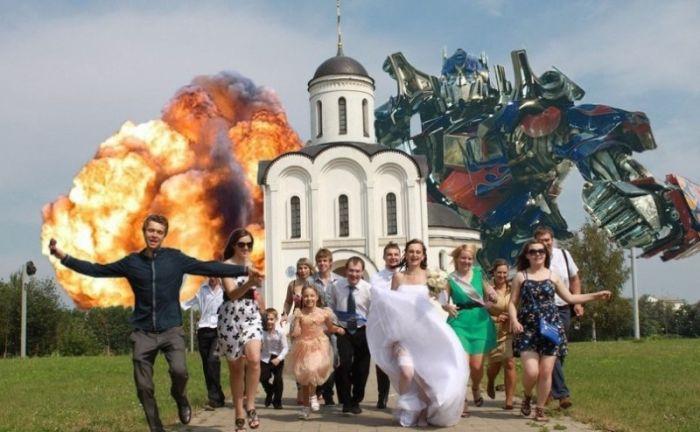 Dünyanın en garip düğün fotoğrafları
