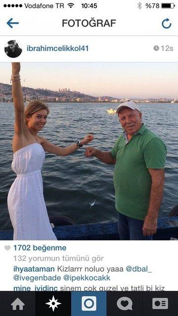 Şok olay! aşklarını deşifre ettiler -4-İbrahim Çelikol 4 Ağustosta ınstagram'da yayınladığı fotoğrafla aşkını itiraf etti.