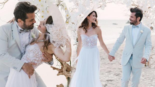 Yılın düğününün kamera arkası fotoğrafları-1-Geçtiğimiz ay Los Angels'ta evlenen ve balayı tatiline devam eden Beren Saat-Kenan Doğulu çiftinin Malibu kumsalındaki düğünün yankıları sürüyor