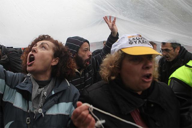 Yunanistan'da protesto gösterisi
