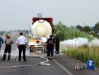 Gaz kaçıran tanker paniğe neden oldu