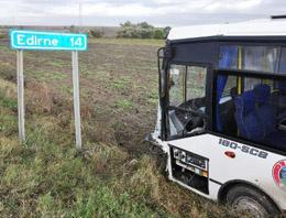 Edirne'de trafik kazası: 1 kişi öldü