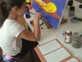 10 yaşındaki ressamdan büyük başarı