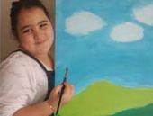 8 yaşındaki ressamın sergisini kaçırmayın