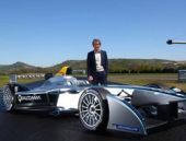 Renault Formula E için pistte