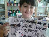 8 yaşındaki minik yetenek resim sergisi açıyor