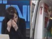 Soma örneği ünlü spikeri ağlattı!