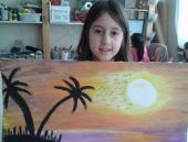 8 yaşındaki kardeşlerin resim sergisi Yeşilköy'de