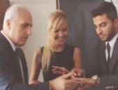 Ece Erken'in yüzüğünü Vali Mutlu taktı