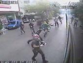 Okmeydanı'nda halk otobüsü içinde dehşet anları