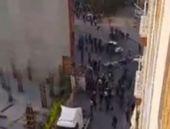İstanbul'da şok! Eylemcilerin üstüne sürdü!