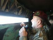 Türk Komutan Azerbaycan-Ermenistan sınır hattında!