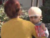 Minik Eren'i kafasına düşen taş kurtardı