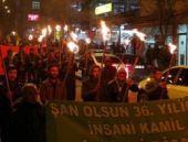 Tunceli'de meşaleli PKK kutlaması!