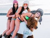 Sibirya'dan bikinili tanıtım filmi