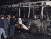 'Protesto' için halk otobüsünü yaktılar!