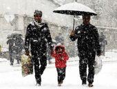 Bolu Dağı'nda beklenen kar başladı!