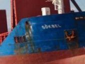 Türk gemisinin batma anı kamerada