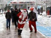Bolu'da Yeniçeri Noel babayı böyle kovaladı
