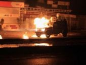 Silopi'de polis araçları alev alev...