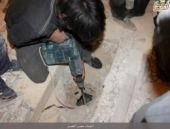 Halep'te türbeyi yıkıp naaşı böyle çıkardılar