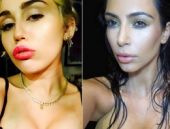 Kardashian ve Miley aynı pozları mı veriyor?