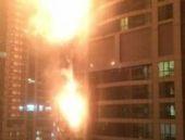 Dubai: Gökdelende yangın