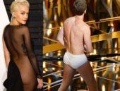 Oscar gecesine çıplak katılanlar...