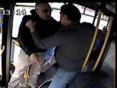Şoför ve engelli yolcu kavgasında şok küfürler!