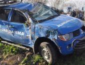 Osmaniye'de askeri araç kaza yaptı