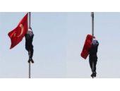 Türk bayrağını indiren PKK yandaşının cezası belli oldu