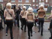 Ukraynalı kadınların eylemi ortalığı karıştırdı!
