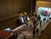 Halk otobüsü köprüden uçtu! Ölü ve yaralılar var!