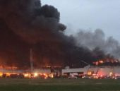 ABD'de elektrik santralinde dev yangın!