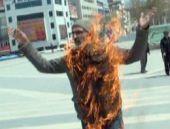 Malatya'da kendini yakan protestocu meğer...