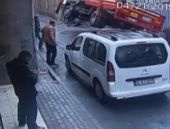 Korkunç kaza saniye saniye görüntülendi