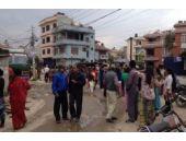 Nepal'de 7.9 büyüklüğünde depremin görüntüleri