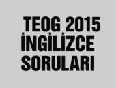 TEOG İngilizce soru ve cevapları 2015 videolu