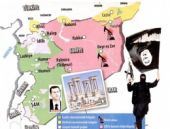 Komşumuz IŞİD oldu işte olay Suriye haritası
