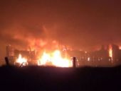 Eskişehir'de fabrika yangını!