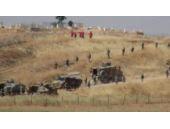 Sınırda askeri hareketlilik! YPG'liler böyle izledi