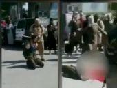 IŞİD El Nusra liderini kesti şok görüntü