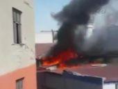İstanbul'daki yangın  camiye sıçradı